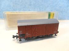 Y 15 ) wagon couvert bois a essieux MINITRIX BO 3534 train electrique  N