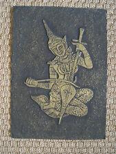 Vintage Asian Embossed Print-Traditional Thaïlande Costume/Musical Instrument