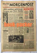 BERLINER MORGENPOST 31.8.1963: SSD entführt geflohene Grepos aus West-Berlin