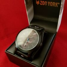 "ZOO YORK ""53736"" (Black) 3-Hand Japanese Movement w/ Case"
