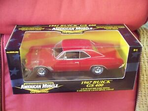ERTL American Muscle 1:18 1967 Buick GS 400 Red Black Interior New In Box 33085