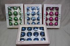 "48 Vintage Glass Christmas Balls Lot, 2"" made in the USA. All in original Box."