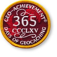 365 DAYS OF GEOCACHING GEO-ACHIEVEMENT EMBROIDERED PATCH