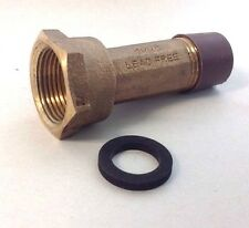 "1/2"" Water Meter Coupling, LEAD-FREE Brass 5/8"" Swivel Coupling nut x 1/2"" NPT"