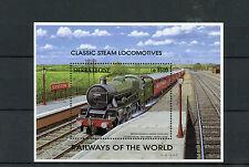 Sierra Leone 1995 MNH Railways of World 1v S/S I Steam Locomotives Trains Stamps