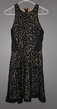 Mossimo Black Lace & Tan Fit Flare Dress Women's Size M  NWT