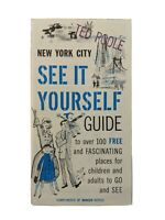 Vintage 1940s 1950s New York City Reference Guide Manger Hotel Vanderbilt Poole
