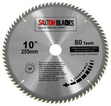 Saxton TCT 255mm X 80t Circular Wood Saw Blade for Evolution Rage with 25.4mm Ring