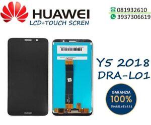 DISPLAY HUAWEI Y5 2018 DRA-L01 TOUCH SCREEN LCD SCHERMO VETRO NERO DRA-L21 DRA-L