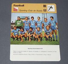 FOOTBALL 1977 SEC BASTIA SECB FURIANI CORSICA LIONS PAPI REP MARIOT FELIX CAZES
