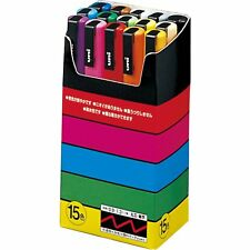 UNI MITSUBISHI PC 3M15C POSCA Paint Marker Pen Fine Point #15 colors SET