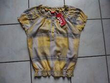 Bluse Blusentop Zabaione Gr. S 36/38 grau-gelb kriert NEU mit Etikett