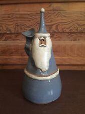 Vintage Christmas Santa Claus Handcrafted Stoneware Figure