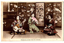JAPAN 34-(7) O-hana-san provides music for o-koto-san