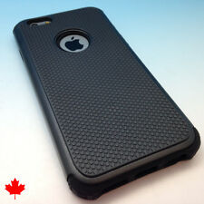 iPhone 6 Hybrid Hard Armour Impact Shell Silicone Case Cover - Black