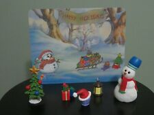 """Pooh and Friends Collectable Accessory """"Wintertime"""" Accessory Kit w/ Backdrop"""