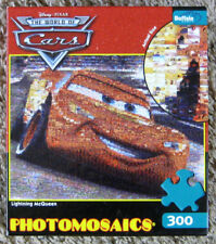 Photomosaic Cars Lightning McQueen 300 Pc Jigsaw Puzzle Buffalo Games Complete