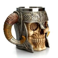 450ml 3D Skull Horn Knight Cool Stainless Steel Cup Coffee Cups and Mugs Coffee