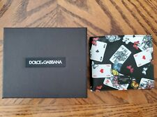 Authentic Dolce & Gabbana D&G DG Leather Wallet NEW in Black Card Butterfly
