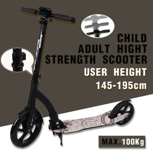 NEW Folding Scooter Push Dual Large Wheels Adult Commuter Child Supension AU