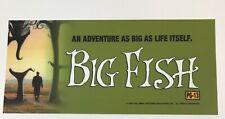 """Big Fish Movie Theater Mylar Poster Medium 6"""" x 13"""" 2003 Ewan McGregor"""