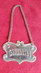 Vintage metal nameplate for bottle plaque Ginjinha portuguese drink