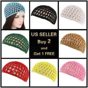 Mesh Hair Net Crochet Cap Fishnet Hairnet Hair net Snood Sleeping Night Cover