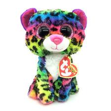 "6"" Dotty Multicolor Leopard Ty Beanie Boos Plush Stuffed Animals Girl Toys Tag"