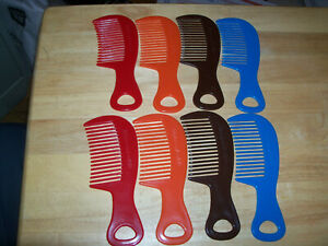 """""""CLOSEOUT"""" SET OF 9 UNBREAKABLE WIDE TOOTH COMBS 6"""" TOTAL LENGTH, 3X1.5"""" TEETH"""