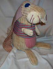 "Original Les Deglingos Bunny Rabbit 10 1/2"" Plush French Design"