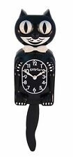 "Classic Kit-Cat Wall Clock 12 3/4"" Inches Black Klock Rolling Eyes Tail Kitty"