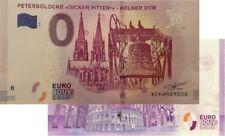 Kölner Dom-Petersglocke Dicker Pitter 2018-4 Null Euro Souvenirschein|0 Euro