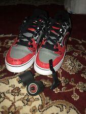 Men's Heelys SKULL Skate Shoes SIZE 8 Motion Red Grey Black White US Size 10 US