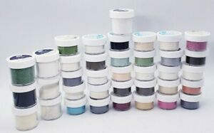 Stampin Up! Embossing Powders HUGE Lot of 37 - Black, Wasabi, Melon, Scented +