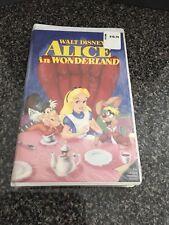 Rare Original Walt Disney Black Diamond Alice in Wonderland (VHS, 1998)
