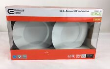 Commercial Electric 5 in. and 6 in. 2700K White Recessed LED Trim with 90 CRI