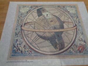 """Armillary Sphere"" by Andreas Cellarius, 1660 - Pristine Condition"