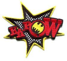 "BATMAN kapow! logo IRON-ON PATCH **FREE SHIPPING** d 110010 robin dc comics 3.5"""