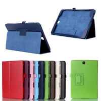 For Samsung Galaxy Chic Leather Flip Cover Tablet Stand Back Open Folio Case