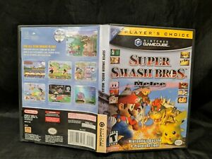 Super Smash Bros. Melee Nintendo GameCube CASE ONLY Players choice