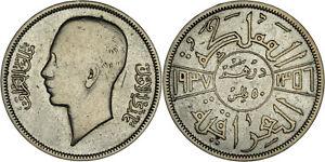 Iraq: 50 Fils silver AH1356 - 1937 (key date!) - <F