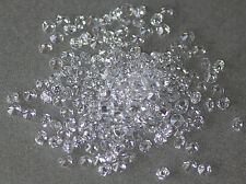 White Clear Round Brilliant Cut Cubic Zirconia, size choice CZ 1mm - 3mm