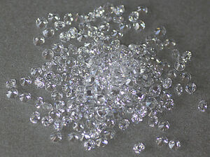 White Clear Round Brilliant Loose Cubic Zirconia Crystal CZ