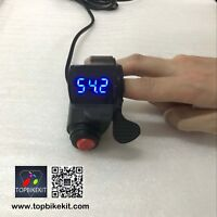 36V/48V/60V/72V Thumb Throttle with Power Switch LED voltage display for ebike
