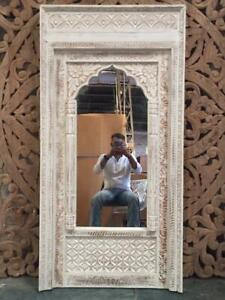 MADE TO ORDER Mehrab Indian Carved Mirror Jharokha Wooden Arch Wall Decor 1.5m W