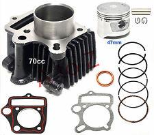 47mm Piston Cylinder Kit for 70cc Chinese ATV Dirt Bike Go Kart 13mm pin
