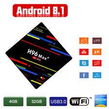 H96 Max Plus Android 8.1 Tv Box 4+32G RK3328 K18.0 Mini Smart WiFi Media Player