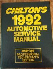 Chilton's Automotive Service Manual 1992