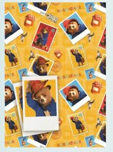 Official PADDINGTON BEAR Marmalade Gift Wrap Sheet +Tags Birthday Wrapping NEW