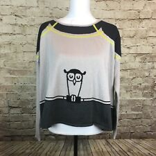 Chelsea & Violet Boxy Gray Navy Blue Long Sleeve Sweater Size L $98 B3